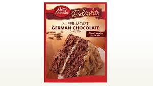 betty crocker super moist delights german chocolate cake mix