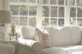 shabby chic sofa slipcover inspirations on the horizon coastal white spaces