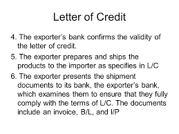 Letter Of Credit Validity methods of payment in exporting and importing ppt