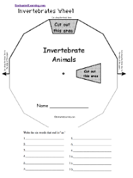 invertebrates wheel printable worksheet enchantedlearning com