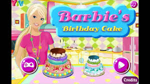barbie cooking cake youtube