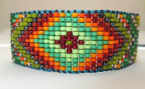 beading bracelet images Huichol native american inspired beaded bracelet or anklet jpeg