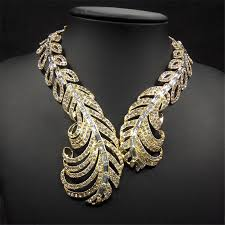 crystal collar statement necklace images Luxury brand jewelry gold imitation rhinestone fashion chunky jpg