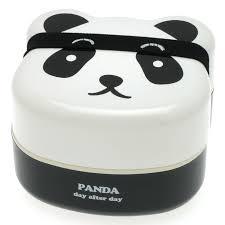 A Kitchen In Black And White Panda S House by Amazon Com Kotobuki 280 129 2 Tiered Bento Box Panda Face