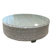 white wicker side table coffe table wicker coffee table outdoor grey wooden garden side