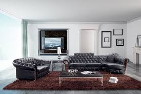 Tufted Sectional Sofas Modern Tufted Sectional Sofa And Seat With Artificial Crystals