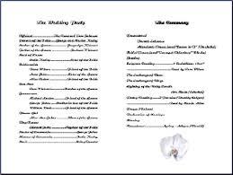 wedding phlet template church program templates wedding program templates from