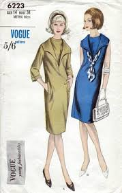 60s vogue dress sewing patterns 6854 one piece coat dress bust