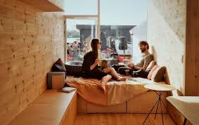 a student village made of container homes in copenhagen by cph