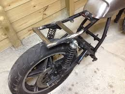 honda ft500 cafe racer rear tail section bracing after the chop