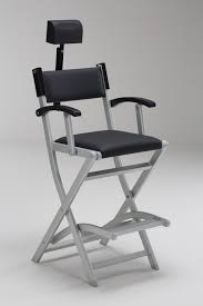 portable makeup chair with side table patio garden director chairs bar height director chairs target