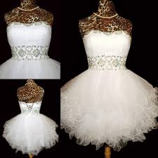 new design short beaded back up lace homecoming dresses strapless