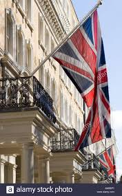 kensington hotel and claverley hotel with british flag beaufort