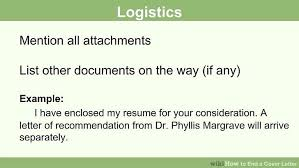 How To Send Resume Via Email Sample by How To End A Cover Letter 15 Steps With Pictures Wikihow
