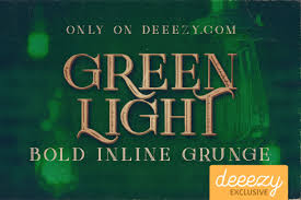 Free Green Green Light Bold Inline Grunge Free Font On Behance