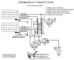 humbuckers 5 way lever switch 1 volume 2 tone 03