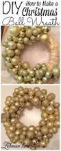diy how to make a christmas ball wreath lehman lane