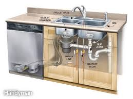 plumbing in a kitchen sink kitchen sink water lines home design ideas