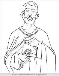 saint peter coloring page the catholic kid