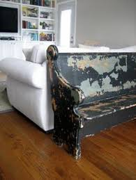 Church Pew Style Bench Church Pew Behind Sofa Google Search Lounge Pinterest