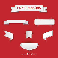 paper ribbon white paper ribbons vector free