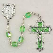 birthstone rosary view all august birthstone rosaries peridot catholic faith store