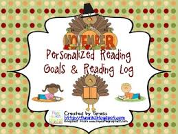 november personalized reading goals and reading log tpt