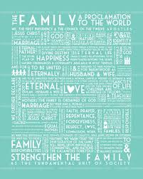 family proclamation lds family proclamation 12 colors included instant