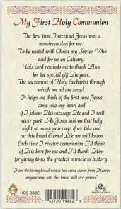 my communion my communion laminated holy car