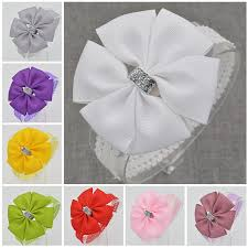 diy baby hair bows 22 color new baby hair bow flower headband bowknot ribbon newborn