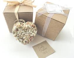 bird seed wedding favors bird seed hearts personalized wedding bridal shower favors