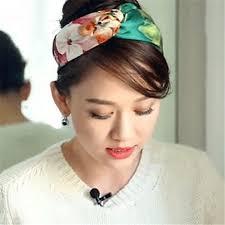 silk headband m mism women wide floral silk headband vintage floral printing