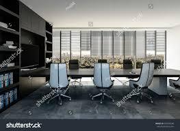 grey interior stylish modern business boardroom interior black stock