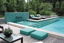 Lounge Chairs In Pool Design Ideas Luxury Pools Adorable Designs Above Ground Pool Deck Ideas With