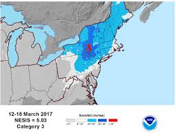Northeast Map Winter Storm Stella Was A Category 3 On Northeast Snowfall Impact