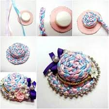 plastic ribbon how to make woven ribbon hat from plastic cap