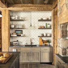 Rustic Kitchen Hoods - rustic stone kitchen hood design ideas