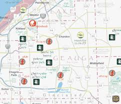 County Maps Of Ohio by Hidden Ohio Map U0026 Guide Geauga County Map Preview