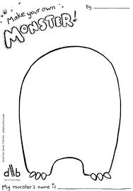 monster template printable kid craft monster
