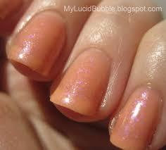 coco allure nail polish peaches and dreams my lucid bubble