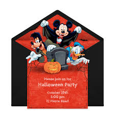 free mickey mouse halloween online invitation punchbowl com
