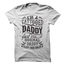 unique tattoo gift white im a tattooed daddy fathers day