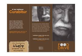 drive brochure templates food drive fundraiser print template pack from serif
