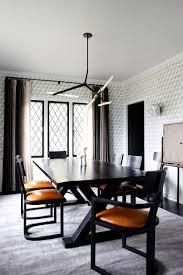 Modern Contemporary Home Decor Custom Finish Agnes Chandelier 6 Lights Black Brass Design