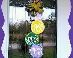 mardi gras door decorations wooden door hanger etsy