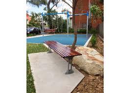 classic galleria slim bench street furniture australia