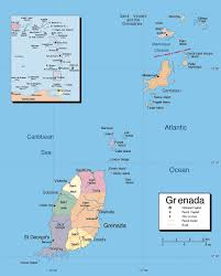 Map Of St Martin Large Detailed Political And Administrative Map Of Grenada