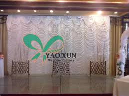 wedding backdrop prices cheap price wavy white wedding curtain backdrops looking