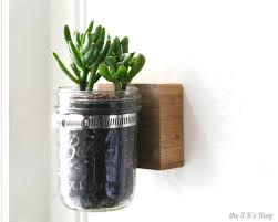 Wall Mounted Planters by Hanging Mason Jar Planter The 3 R U0027s Blog