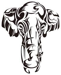 tribal elephant head tattoo stencil photo 14 2017 real photo